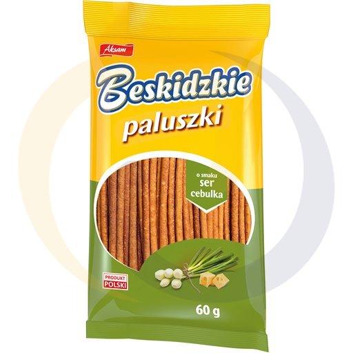 Aksam Paluszki beskidzkie serowo-cebulowe 60g/24szt  kod:5907030000000