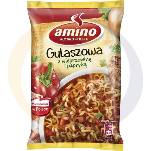 Amino Zupa  bł.gulaszowa z wieprz.i papr. 59g/22szt  kod:8711200000000