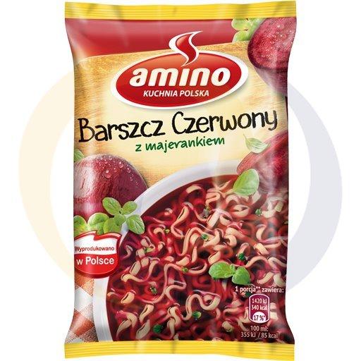 Amino Zupa  bł.barszcz czerw.z majeran. 66g/22szt  kod:8711200000000