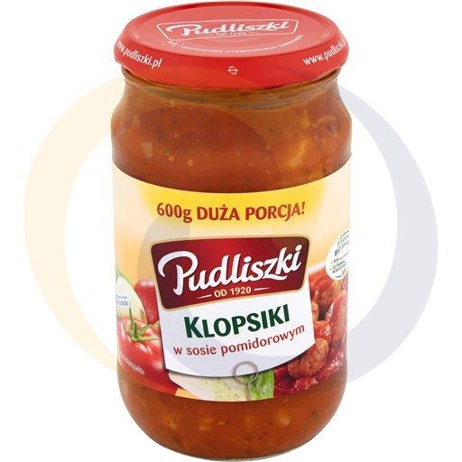 Pudliszki Klopsiki wieprz.w sosie pomidor.600g/8szt  kod:5900780000000