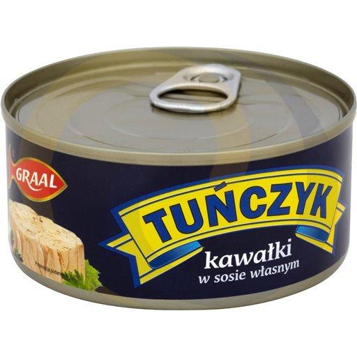 Graal Tuńczyk kawałki w sosie własnym 170g/48szt  kod:5903900000000