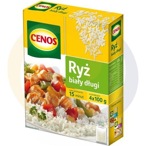 Cenos Ryż biały długi kartonik 4*100g/12szt  kod:5900980000000