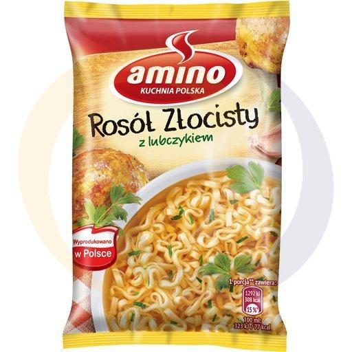 Amino Zupa  bł.rosół złocisty z lubczyk. 57g/22szt  kod:8711200000000