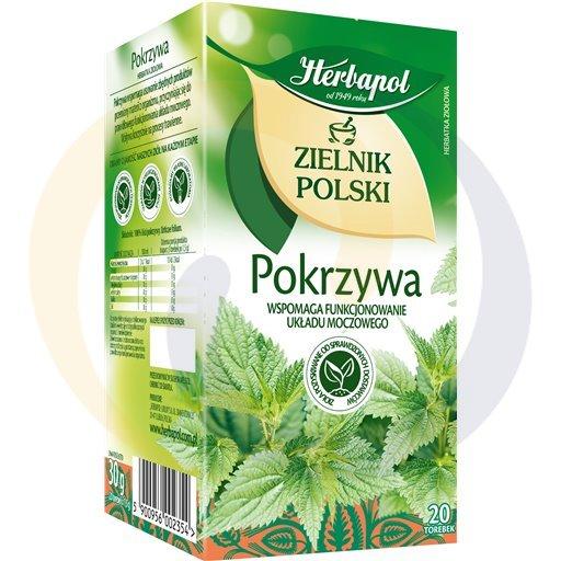Herbapol Herbata Ziel.Polski pokrzywa 20t*2,0g/12szt  kod:5900960000000