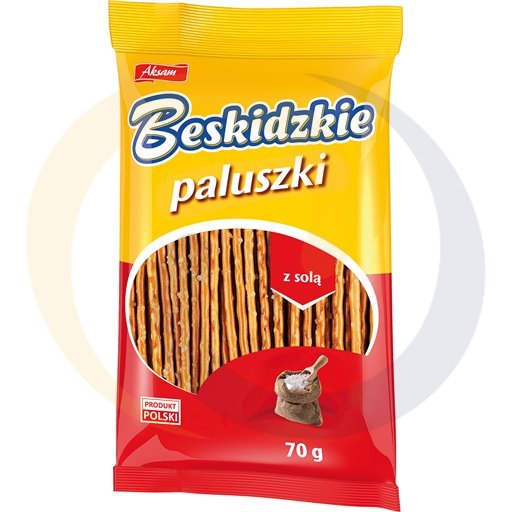 Aksam Paluszki beskidzkie z solą 70g/45szt  kod:5907030000000