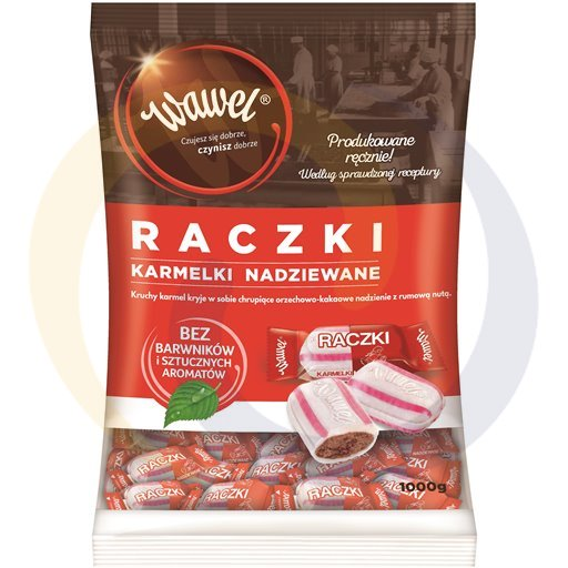 Wawel Karmelki nadziewane raczki 1kg/4dis  kod:5900100000000
