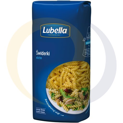 Lubella Makaron świderki 500g/18szt  kod:5900050000000